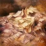 Biblioteca - Óleo  Lienzo -150x150 cm - 1998