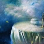 Bodegón nocturno - Óleo  Lienzo - 97x130 cm - 1998