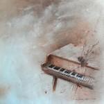 Sólo los sonidos del viento - Sanguina, pastel y lápiz - 33x33 cm
